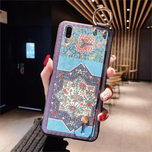 Кейс Blue Shapes с Дръжка за iPhone 7 / 8 / SE