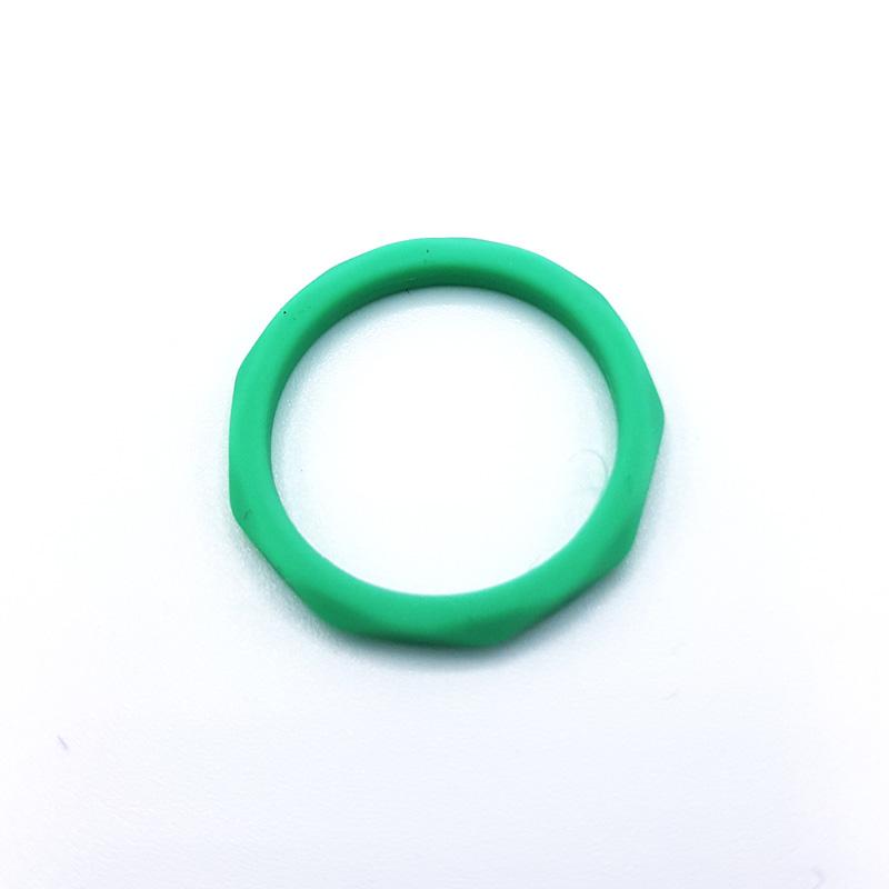 Силиконов пръстен Diamonds Green